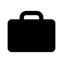 briefcase icon black on white background