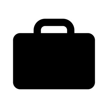briefcase icon black on white background