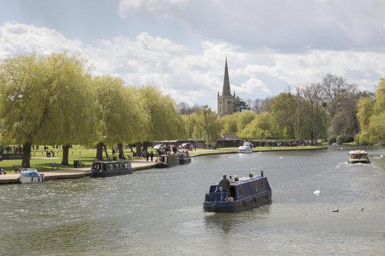 River Avon with Barge, Stratford Upon Avon