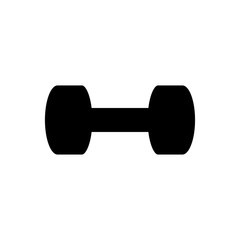 barbell dumbell bodybuilding fitness sport icon simple black