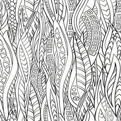 Seamless pattern of hand-drawn abstract geometric elements. Monochrome gamma .