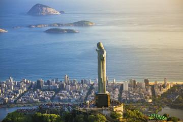 Aerial view of Christ Statue, Rio De Janeiro