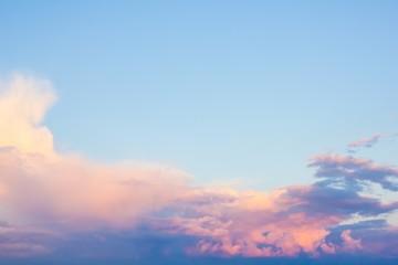 Sunset sky for background