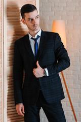 Portrait of young beautiful fashionable man
