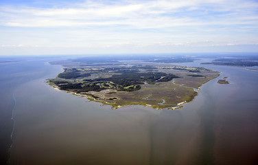 Daufuskie Island SC Aerial view