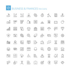 Line icons. Business and finances