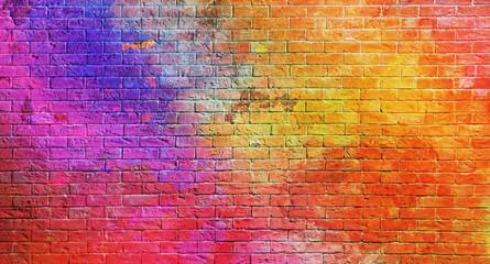 In de dag Graffiti Colorful brick wall background