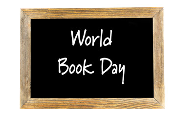 World Book Day concept. Text in frame