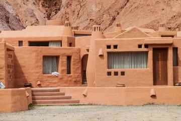 Adobe house in Purmamarca village (Quebrada de Humahuaca valley), Argentina