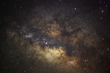 The center of milky way galaxy, Long exposure photograph,with gr