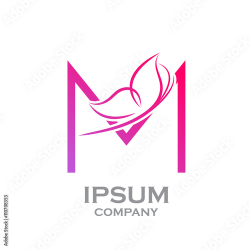 Quot Abstract Letter M Logo Butterfly Beauty And Fashion Logo