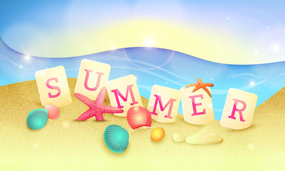 Summer holidays illustration. Vector