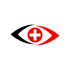 Medical logo icon vector eyes