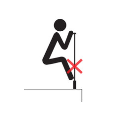 The structure may be  not strong do not clamber. Not Allowed Sign, warning symbol, vector illustration.