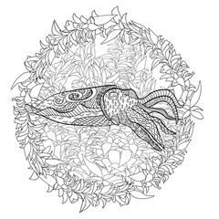 Cuttlefish with high details.