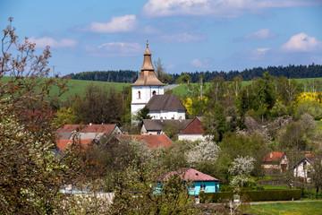 Small church in village