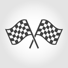 Vector checkered flags icons set