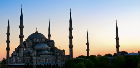Sultan Ahmed Mosque known as the Blue Mosque, in Istanbul. Turke