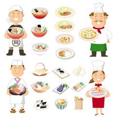 Cooks/ 調理師と料理