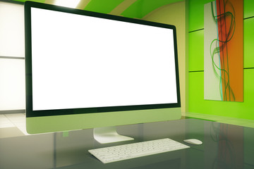 White screen and picture