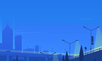 Canvas Print - Night cityscape. Vector illustration.