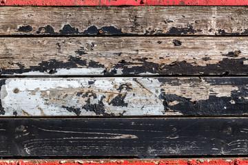 Hintergrund alte Holzbretter mit Farbresten