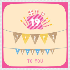 Happy 19th birthday card