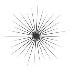 Comic Book monochrome  Explosion. Vector