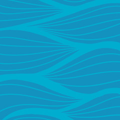 Hand drawn wave vector pattern