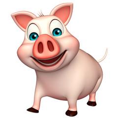 fun  Pig cartoon character