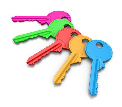 Colorful Keys Set