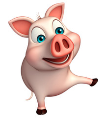 pointing  Pig cartoon character