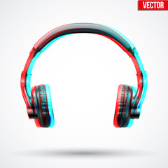 Headphones with visual stereo effect