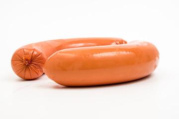 meat sausage white background fleischwurst