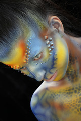 body art - the girl chameleon