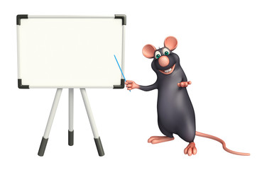 cute  Rat cartoon character with display  board