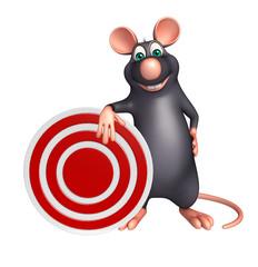 cute Rat cartoon character with target