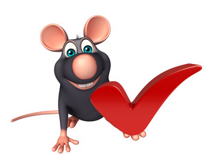 fun  Rat cartoon character  right sign