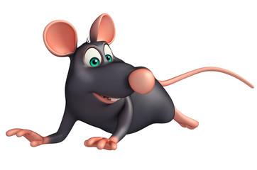 running  Rat cartoon character