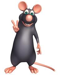 victory Rat cartoon character