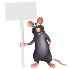 cute  Rat cartoon character with board