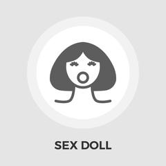 Sex doll flat icon