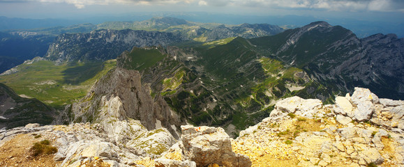 View from Bobotov Kuk Peak, Durmitor National Park, Montenegro