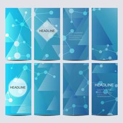 Set of vector flyers. Flyer, web, banner, card, vip, certificate, gift, voucher. Modern business stylish designv