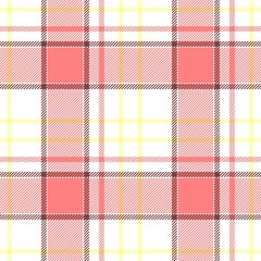 white pink yellow check diamond tartan plaid fabric seamless pattern texture background