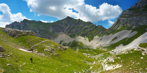View of Sareni Pasovi Mountain, Durmitor National Park, Montenegro