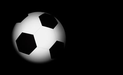 football on black background