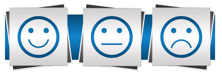 Smile Neutral Sad Faces Blue Grey