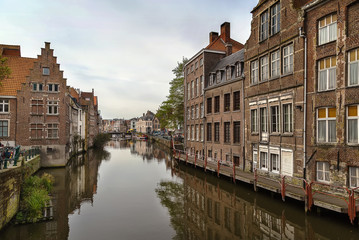 river embankment, Ghent, Belgium