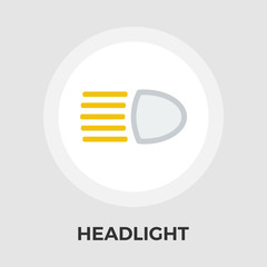 Headlight vector flat icon